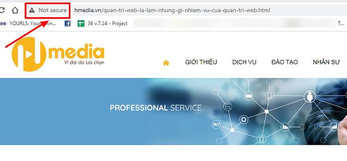 website khong co ssl